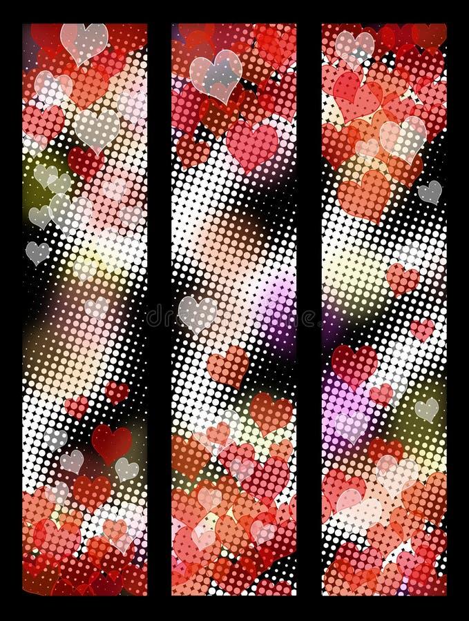 Download Walentynek serc sztandary ilustracji. Ilustracja złożonej z abstrakt - 28957906
