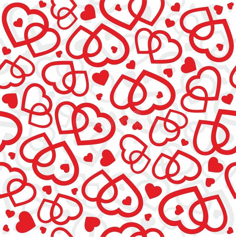 Walentynek serc tła bezszwowy wektor zdjęcie royalty free