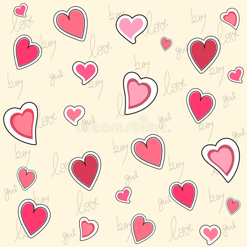 Walentynka bezszwowy wzór ilustracji