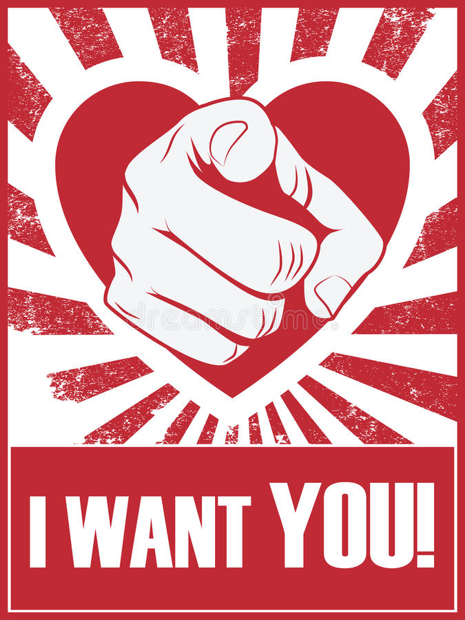 Walentynka dnia śmieszny plakat lub pocztówka z ręką royalty ilustracja