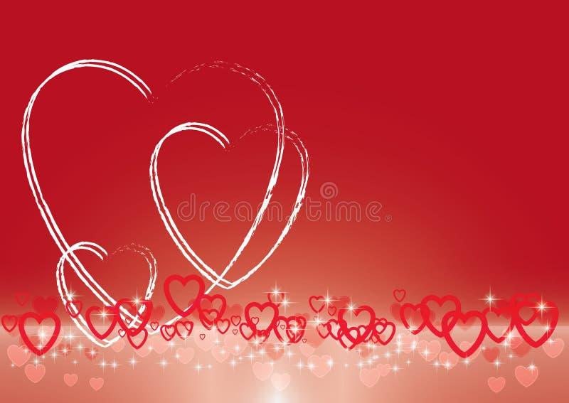 Walentynka dnia abstrakcjonistyczny wektorowy tło fotografia royalty free