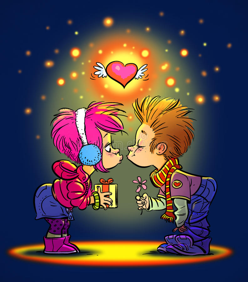 Walentynka dnia buziak ilustracji