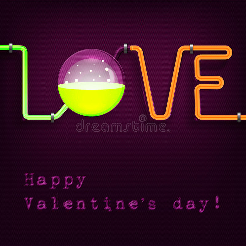 Walentynka dnia chemii tubk karta ilustracji