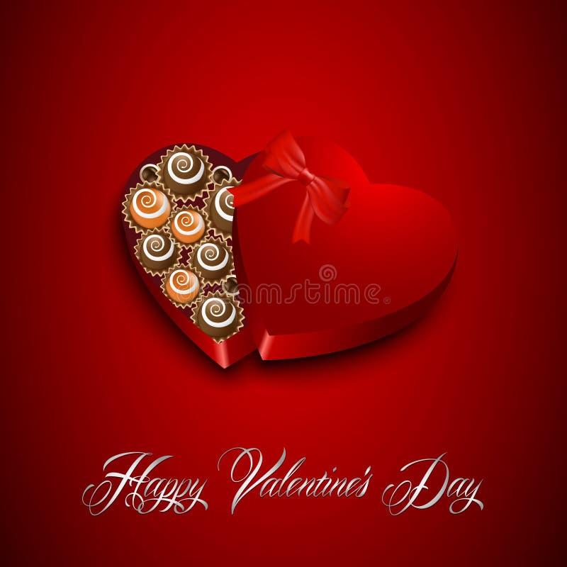 Walentynka dnia cukierek ilustracja wektor