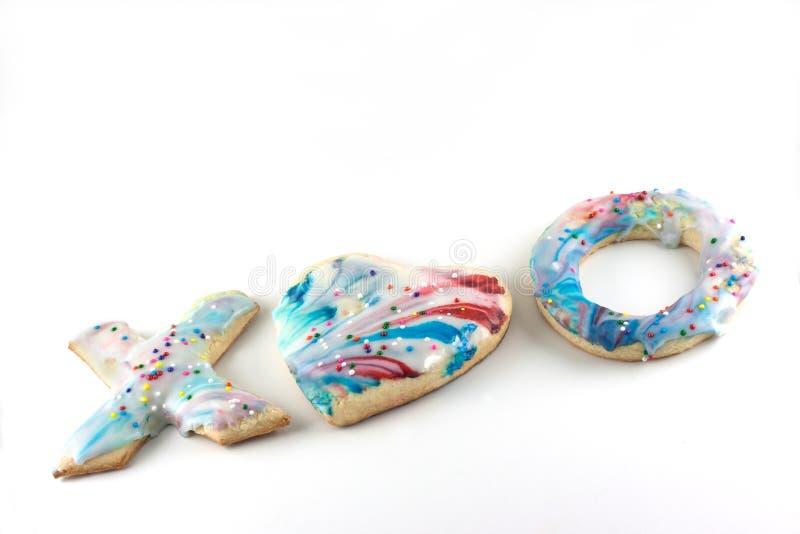 Walentynka dnia Cukrowi ciastka zdjęcie royalty free