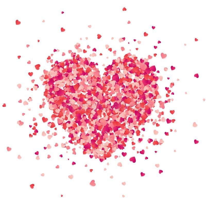 Walentynka dnia czerwony tło z sercami czerwone róże miłości tła symbolu white Luty 14 kocham cię to moja walentynka Kierowi conf royalty ilustracja