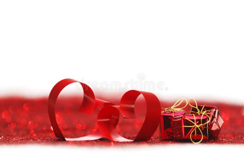 Walentynka dnia dekoracyjni serca zdjęcia stock