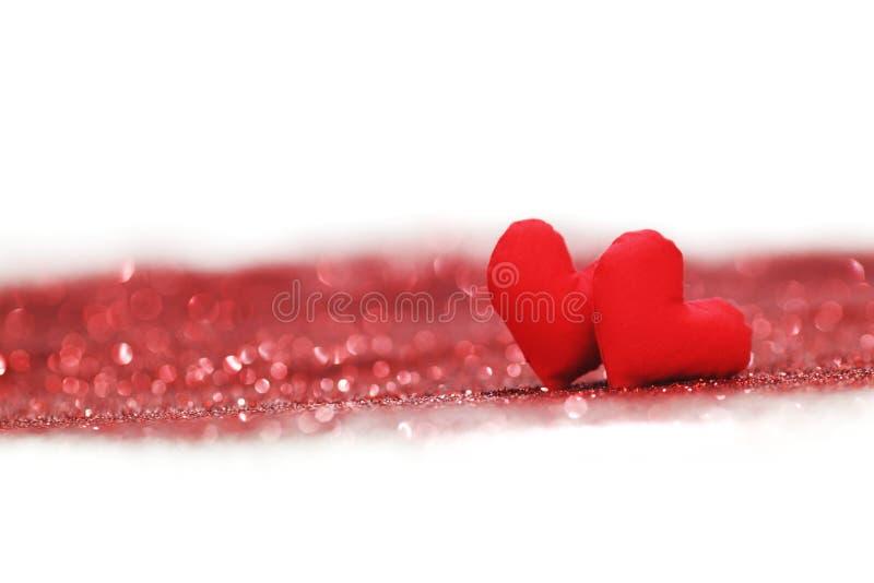 Walentynka dnia dekoracyjni serca zdjęcia royalty free