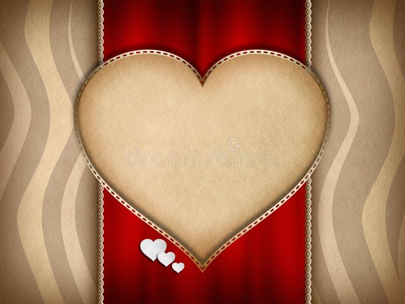 Walentynka dnia karciany projekt ilustracja wektor