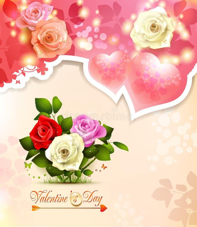 Download Walentynka dnia karta ilustracja wektor. Ilustracja złożonej z dekoracyjny - 28956081
