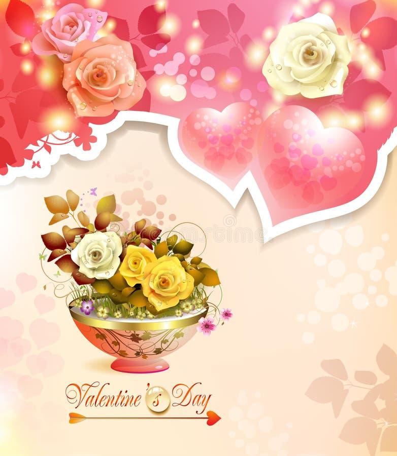 Download Walentynka dnia karta ilustracja wektor. Ilustracja złożonej z heart - 28956087