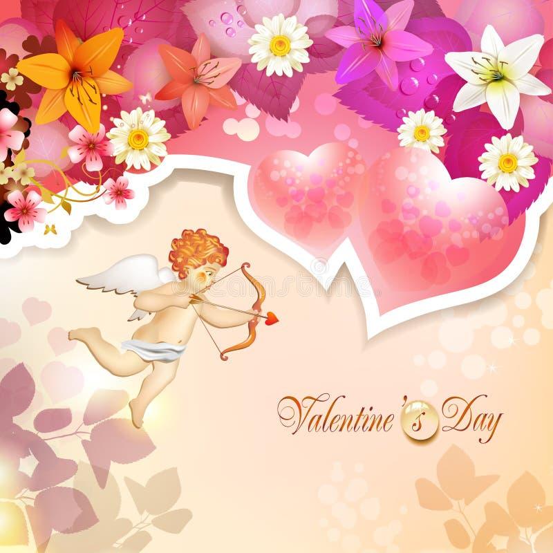 Download Walentynka dnia karta ilustracja wektor. Ilustracja złożonej z 1 - 28956094