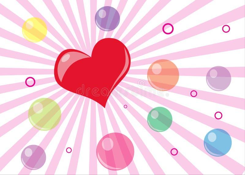 Walentynka dnia karta zdjęcie stock