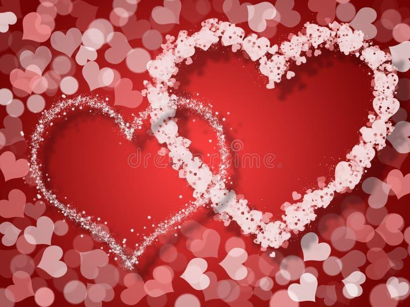 Walentynka dnia karta royalty ilustracja