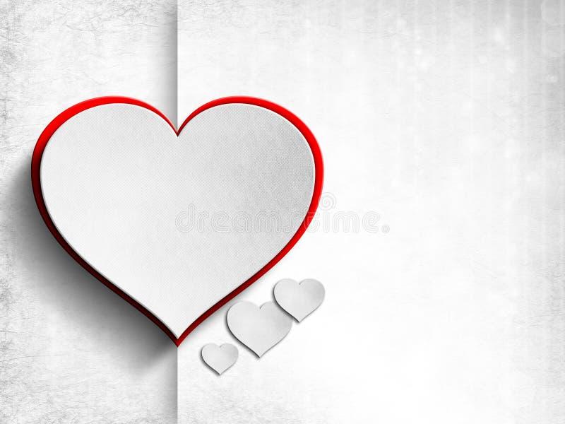 Walentynka dnia karta - tło szablon ilustracja wektor