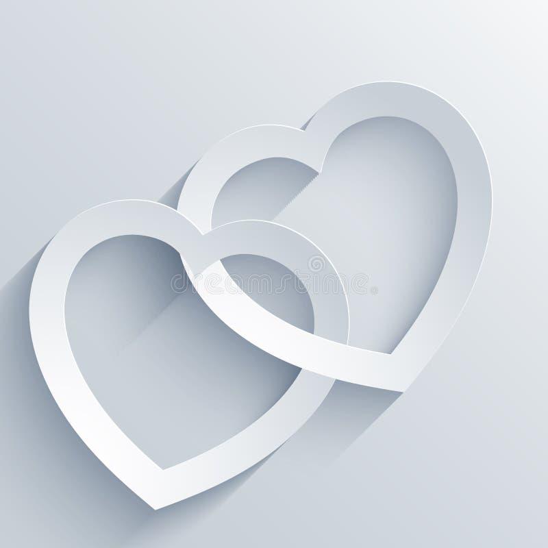 Walentynka dnia karta z sercem. ilustracji