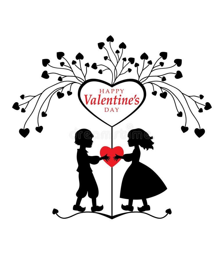 Walentynka dnia kartka z pozdrowieniami. royalty ilustracja