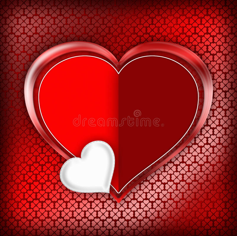 Walentynka dnia karty szablon ilustracja wektor