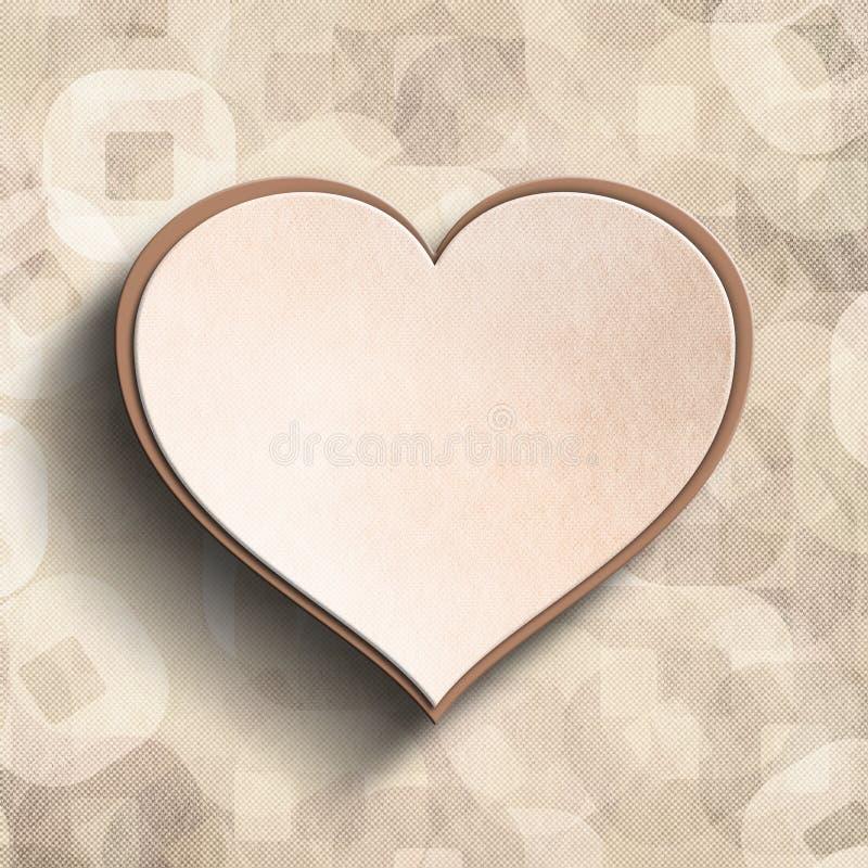 Walentynka dnia karty tła szablon royalty ilustracja