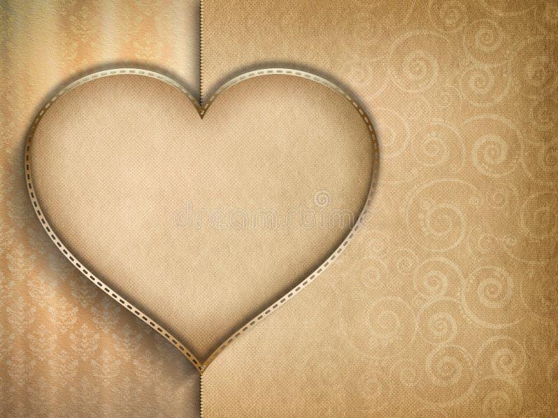 Walentynka dnia karty tło royalty ilustracja