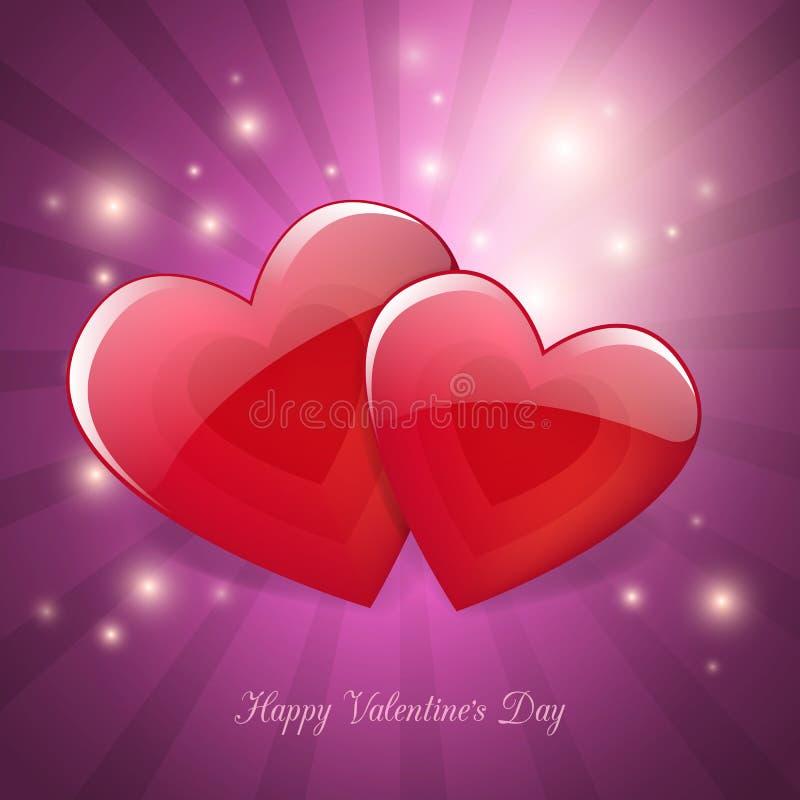 Walentynka dnia magicznej miłości plakatowy karciany projekt royalty ilustracja