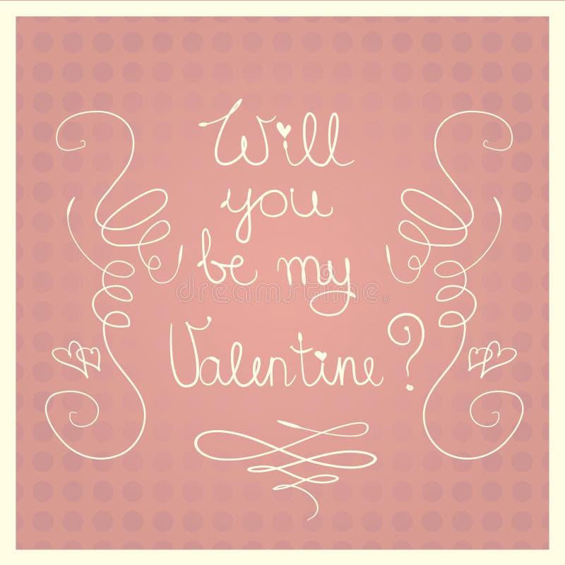 Walentynka dnia menchii wektoru karta ilustracja wektor