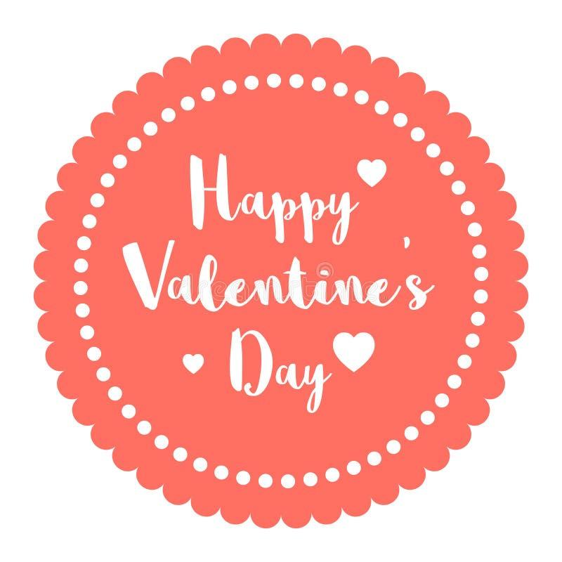 Walentynka dnia Pantone Pocztówkowy Kierowy Żywy Koralowy kolor rok 2019 na zmiętym papierowym brązu tle royalty ilustracja