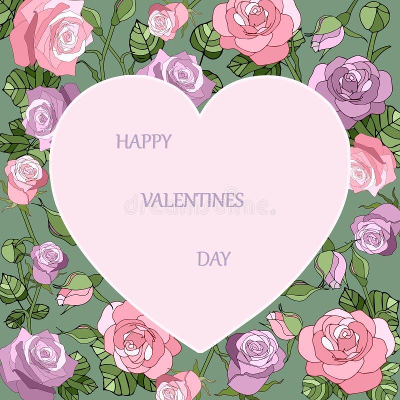 Walentynka dnia rocznika karta zdjęcie royalty free