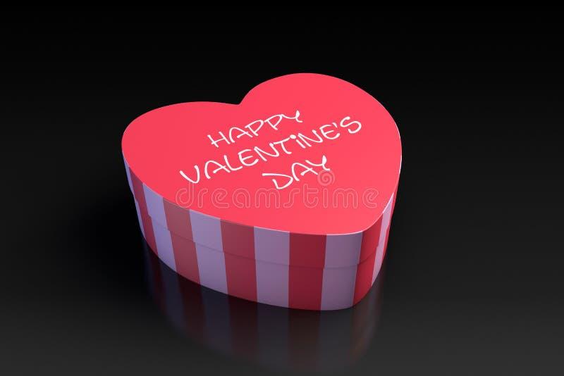 Download Walentynka Dnia Serce Kształtujący Pudełko Ilustracji - Ilustracja złożonej z teraźniejszość, świętowanie: 28958710
