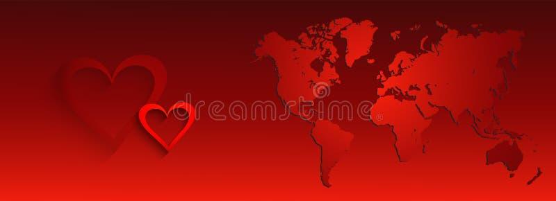 Walentynka dnia sieć i biznesu chodnikowiec ilustracji