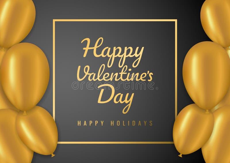 Walentynka dnia sprzedaży tło z balonami również zwrócić corel ilustracji wektora Pojęcie dla ulotek, zaproszenie, plakaty, brosz royalty ilustracja