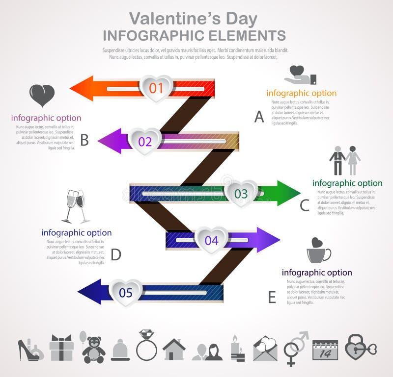 Walentynka dnia strzała infographic ilustracji
