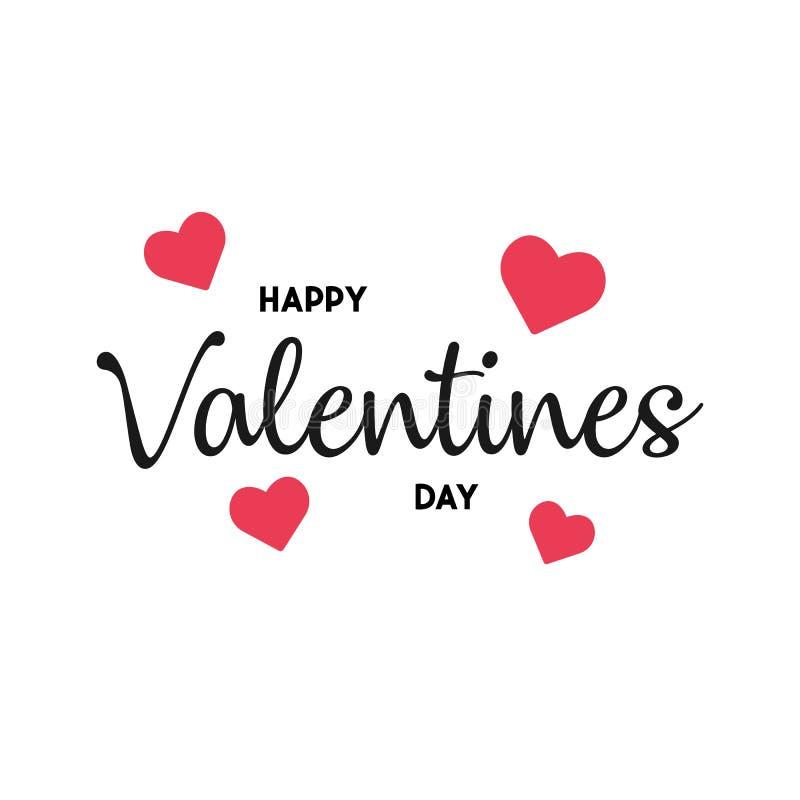 Walentynka dnia tło z serce wzorem i typografią szczęśliwy valentines dnia tekst również zwrócić corel ilustracji wektora Tapeta, ilustracja wektor