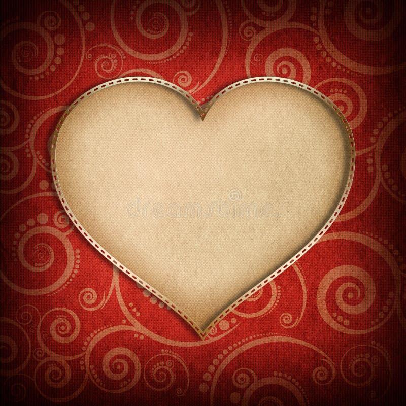 Walentynka dnia tło - kartka z pozdrowieniami szablon ilustracja wektor