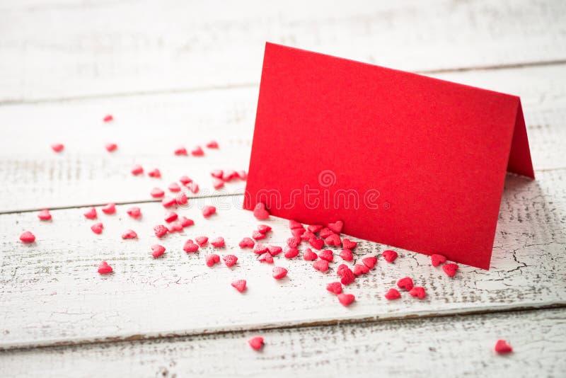 Walentynka dnia tło Pocztówkowy wyznanie miłość fotografia stock