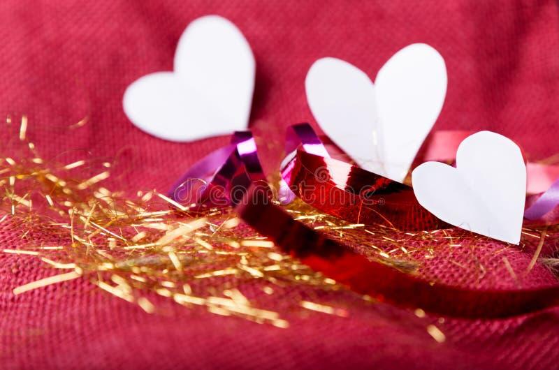 Walentynka dnia tło z sercami zdjęcie royalty free