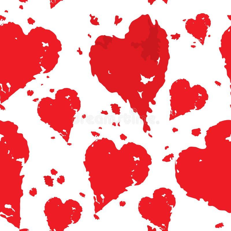 Walentynka dnia wzór z sercem royalty ilustracja