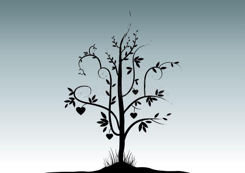 walentynka drzewny royalty ilustracja