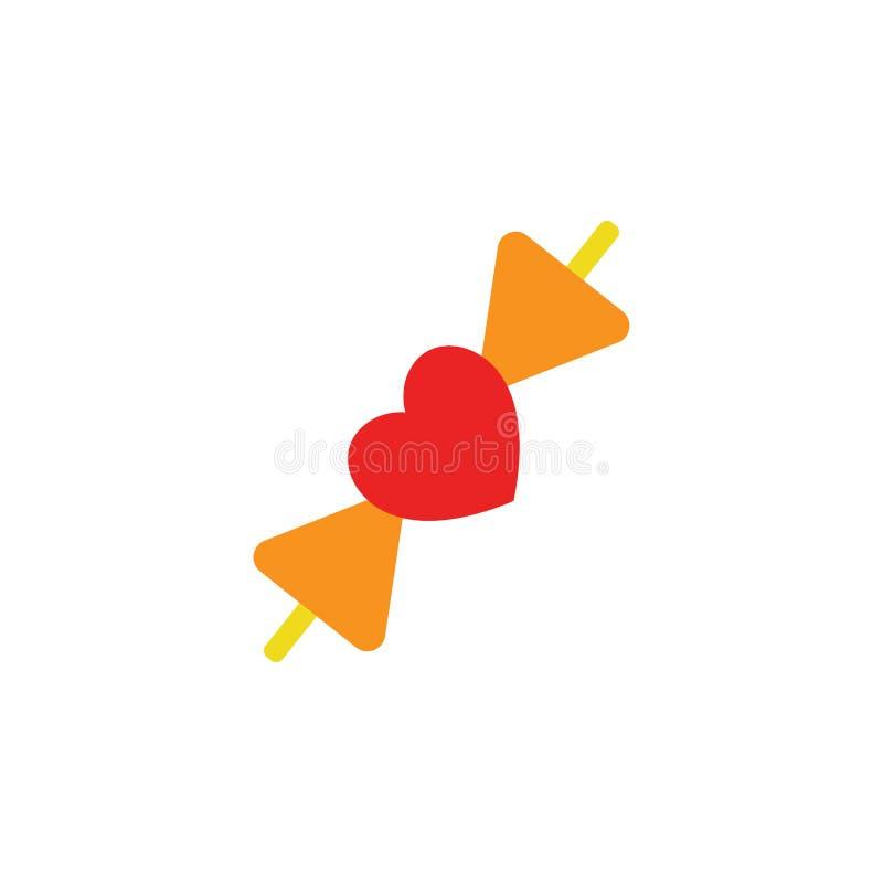 Walentynka dzień, krawat ikona Element sieci walentynki ikona dla mobilnych pojęcia i sieci apps Szczegółowy walentynka dzień, kr ilustracja wektor