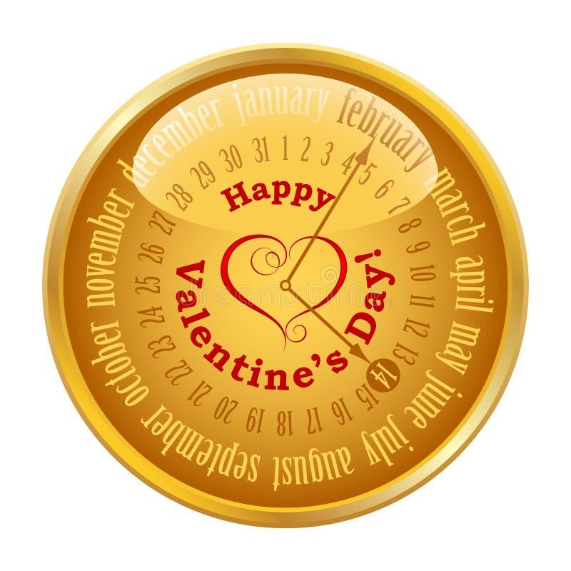 Walentynka dzień na kalendarzu ilustracji