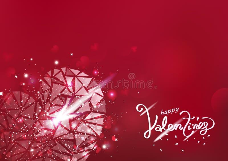 Walentynka dzień połyskuje połysku luksusowego abstrakcjonistycznego tła sezonowego wakacyjnego wektor, kierowy rozjarzony wielob ilustracji