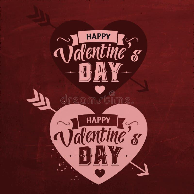 Walentynka dzień Ustawiający Typograficzny projekt ilustracja wektor
