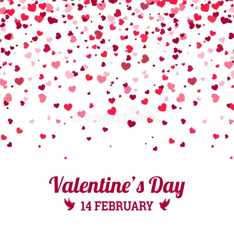 Walentynka dzień - wektorowy kartka z pozdrowieniami z serce bielu tłem ilustracja wektor