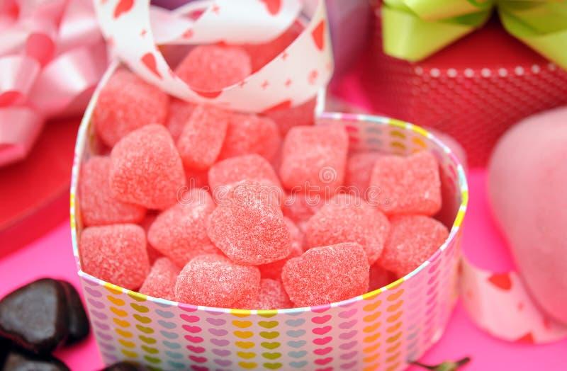 Walentynka gumowaty cukierek zdjęcia royalty free