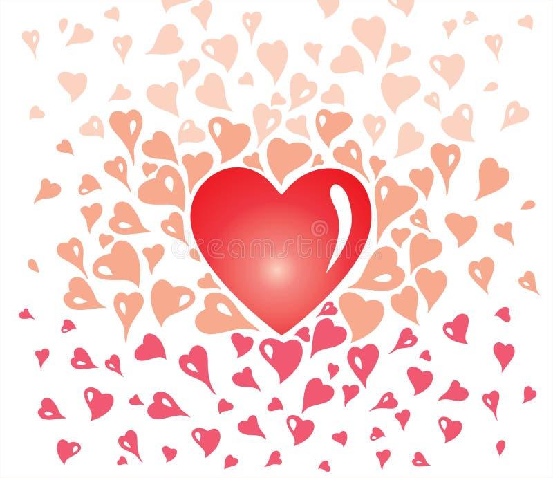 Walentynka karciany projekt, dekoracyjny rocznik delikatny, z stylizowanymi kierowymi elementami ilustracji