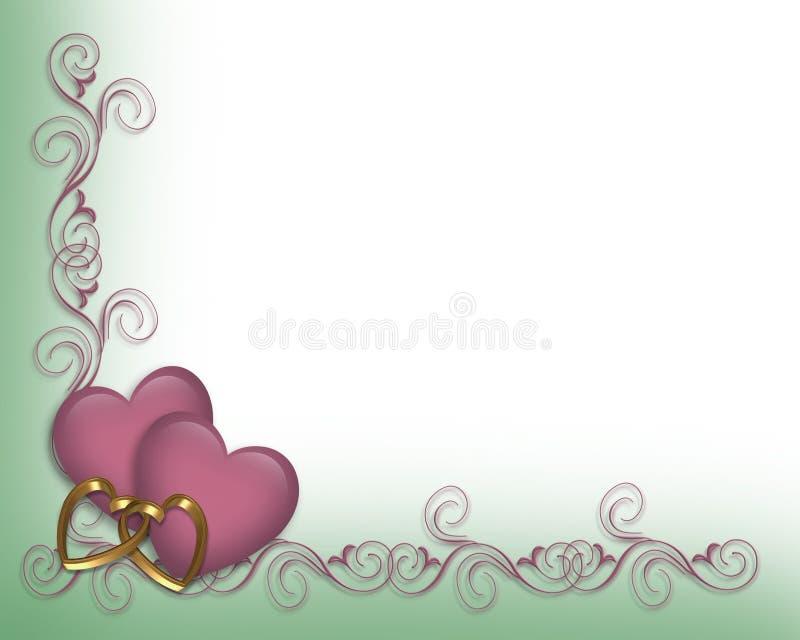 walentynka kolorze lila graniczny ślub royalty ilustracja