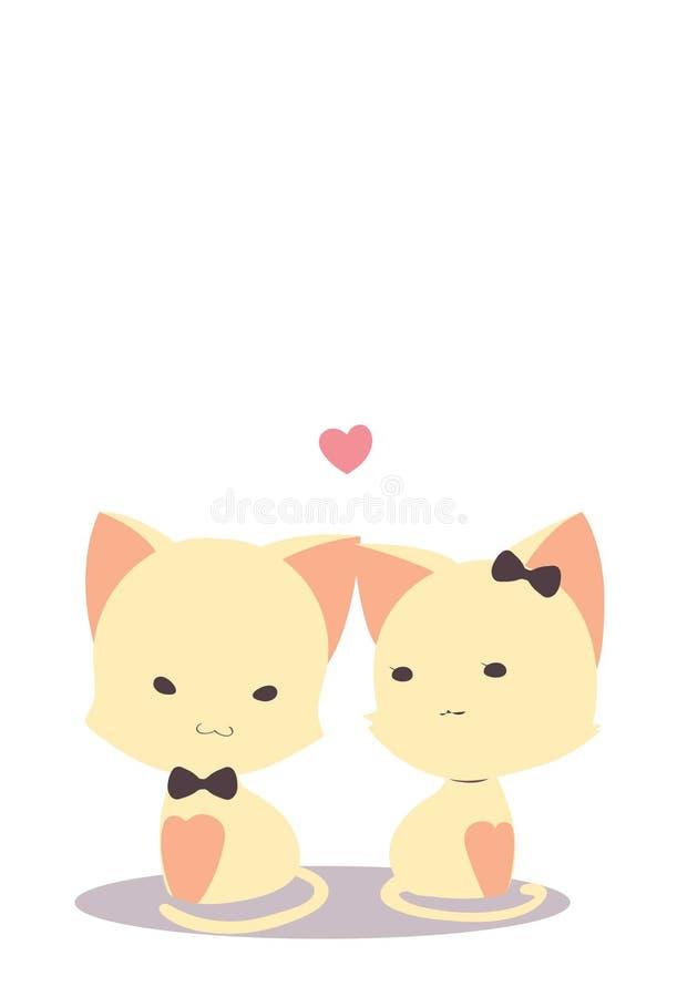 Walentynka koty ilustracja wektor