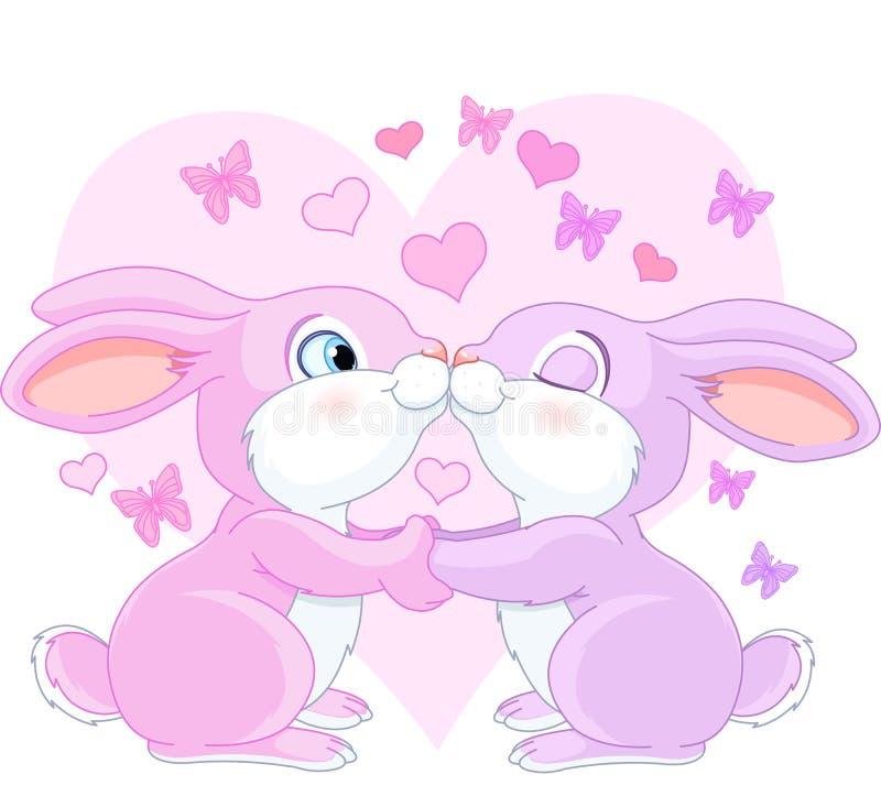 Walentynka króliki royalty ilustracja