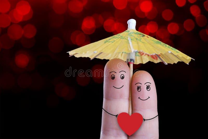Walentynka palec zdjęcia royalty free