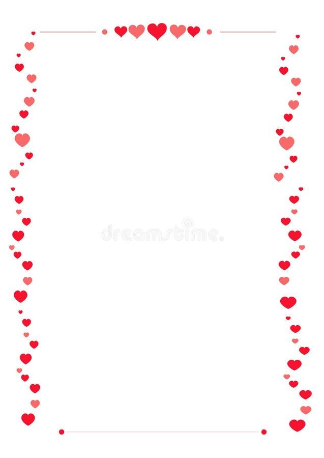 Walentynka papieru granica ilustracja wektor